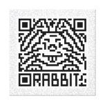 Código de QR el conejo Impresión En Lienzo Estirada