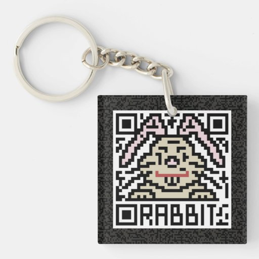 Código de QR el conejo Llavero