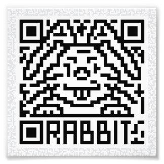 Código de QR el conejo Impresion Fotografica