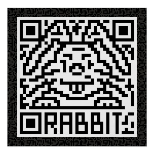 Código de QR el conejo Póster