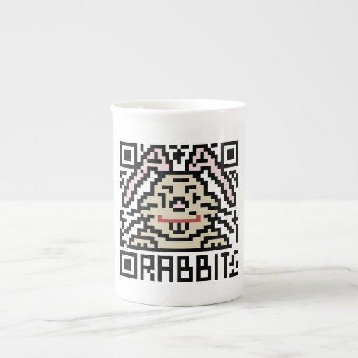 Código de QR el conejo Taza De Porcelana