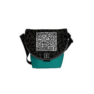 Código de QR el dragón Bolsa Messenger
