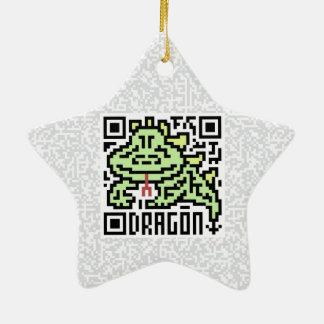 Código de QR el dragón Adorno De Cerámica En Forma De Estrella