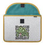 Código de QR el dragón Funda Macbook Pro