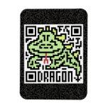 Código de QR el dragón Imán Rectangular