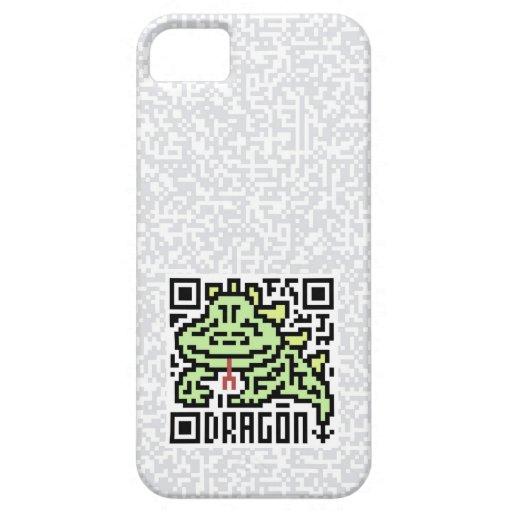 Código de QR el dragón iPhone 5 Case-Mate Cárcasa