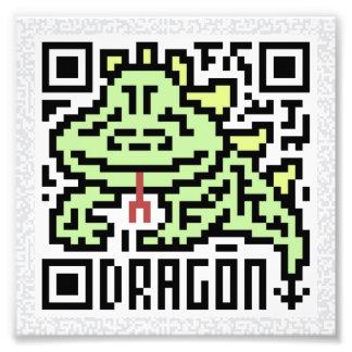 Código de QR el dragón Foto