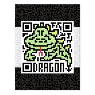 Código de QR el dragón Tarjetas Postales