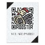 Código de QR el gallo Invitación 10,8 X 13,9 Cm