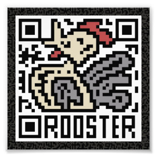 Código de QR el gallo Fotos