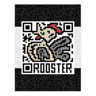 Código de QR el gallo Tarjeta Postal