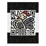 Código de QR el gallo Tarjetas Postales