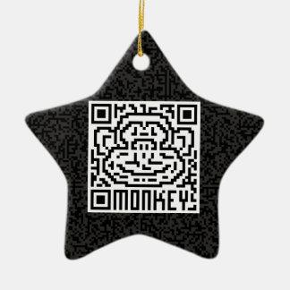 Código de QR el mono Adorno De Cerámica En Forma De Estrella