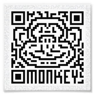 Código de QR el mono Fotografías