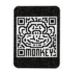 Código de QR el mono Imanes Flexibles
