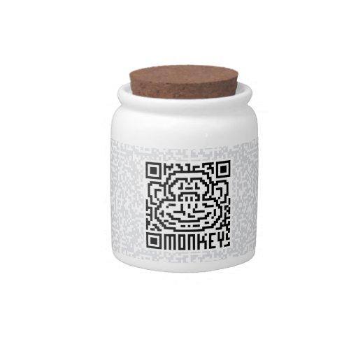 Código de QR el mono Jarras Para Caramelos