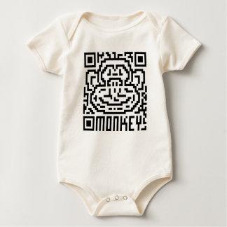 Código de QR el mono Mameluco De Bebé