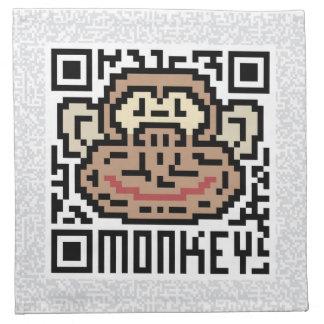 Código de QR el mono Servilletas De Papel