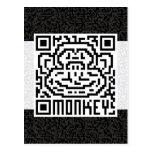 Código de QR el mono Tarjeta Postal