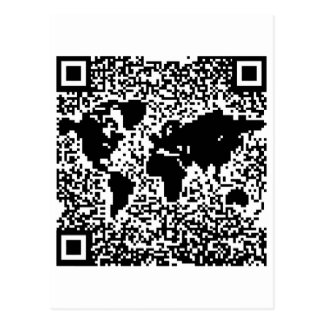 Código de QR - el mundo Postales