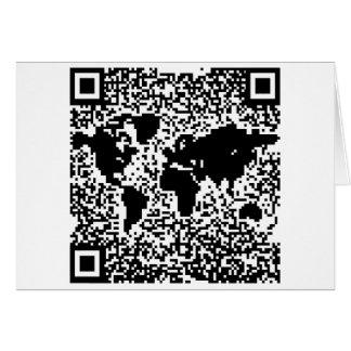 Código de QR - el mundo Tarjeta De Felicitación
