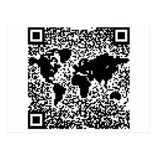 Código de QR - el mundo Tarjetas Postales