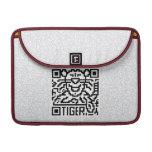 Código de QR el tigre Funda Macbook Pro
