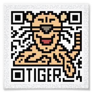 Código de QR el tigre Impresion Fotografica