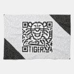 Código de QR el tigre Toallas