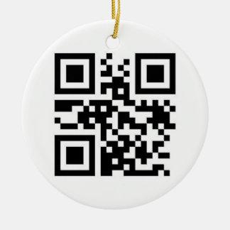¡Código de QR - Felices Navidad! Adorno Redondo De Cerámica