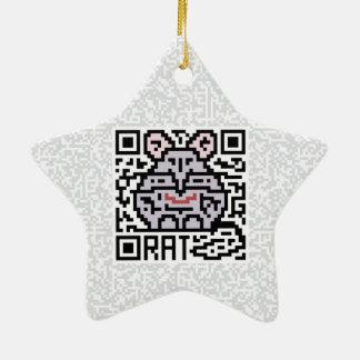 Código de QR la rata Adorno De Cerámica En Forma De Estrella