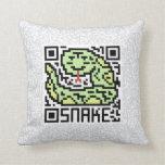 Código de QR la serpiente Cojines
