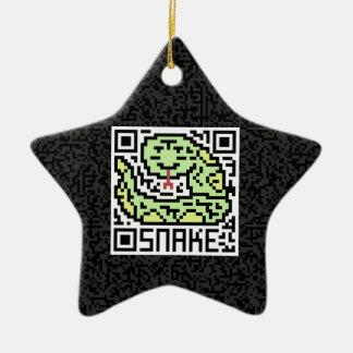 Código de QR la serpiente Adorno De Cerámica En Forma De Estrella