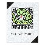 Código de QR la serpiente Invitación 10,8 X 13,9 Cm