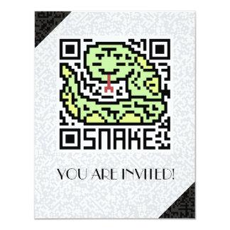 """Código de QR la serpiente Invitación 4.25"""" X 5.5"""""""