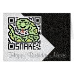Código de QR la serpiente Tarjeta De Felicitación