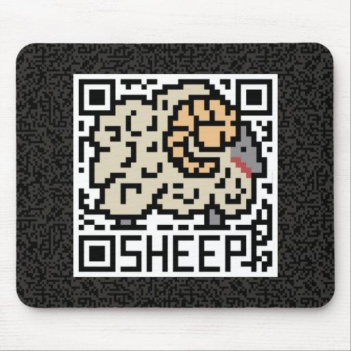 Código de QR las ovejas Alfombrillas De Ratón