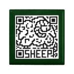 Código de QR las ovejas Cajas De Regalo