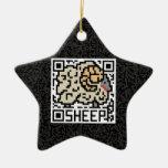 Código de QR las ovejas Ornaments Para Arbol De Navidad