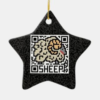 Código de QR las ovejas Adorno De Cerámica En Forma De Estrella