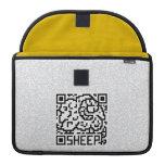 Código de QR las ovejas Funda Macbook Pro