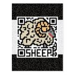 Código de QR las ovejas Postal