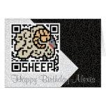 Código de QR las ovejas Tarjeta De Felicitación
