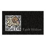 Código de QR las ovejas Tarjetas De Visita