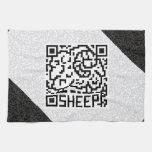 Código de QR las ovejas Toalla De Mano