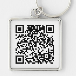 Código de QR Llavero Cuadrado Plateado