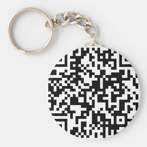 Código de QR Llavero Redondo Tipo Pin