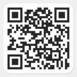 Código de QR - pegatinas Calcomanía Cuadradas Personalizadas