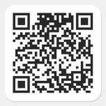 Código de QR Pegatinas Cuadradases