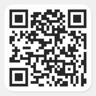 Código de QR - pegatinas Pegatina Cuadrada
